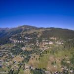 Vue aérienne de Thyon - Les Collons