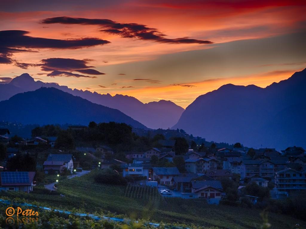 Vue du Valais depuis Savièse